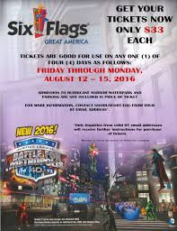 Six Flag Illinois August 12 Last Day To Buy Six Flags Great America Tickets