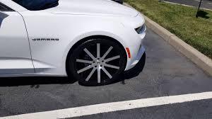 2017 camaro 2lt white with kalahari interior 22 inch dub shot