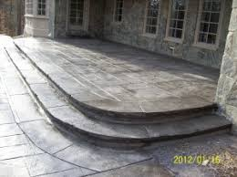 stamped concrete patio and steps otg on the go custom concrete