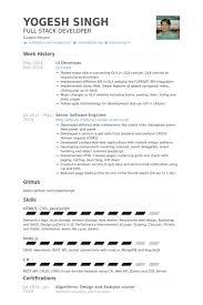 developer resume template 5 developer resume template ui sles sufficient snapshoot exle