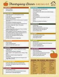 printable thanksgiving dinner checklist and recipes dinner checklist