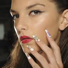 spring nail designs ss2014 london fashion week