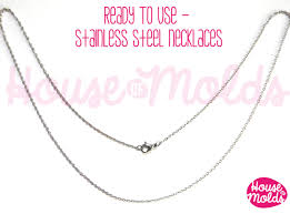 necklace pendant clasp images Stainless steel necklace ready to use wear chain 1 mm with jpg