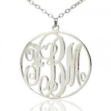 Initial Monograms 42 Best Ns Circle Necklace Images On Pinterest Circle Necklace