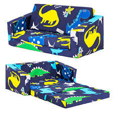 Kids Flip Out Sofa Bed With Sleeping Bag Cotton Blend Children U0027s Sleeping Bags Ebay