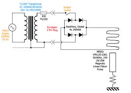 rectifier wiring a 24vac vacuum pump to 220vac mains supply
