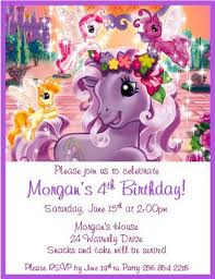 12 printed my pony personalized invitations many styles
