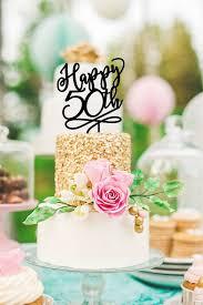 50th anniversary cake topper 50th birthday cake topper happy