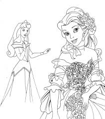 free printable disney princess coloring pages for kids with