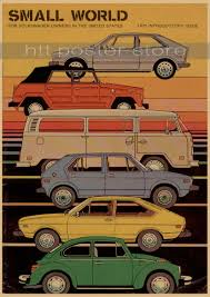 classic volkswagen cars vintage classic volkswagen car vw type mini bus poster bar cafe