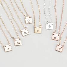 initials jewelry tiny initial necklace engraved tag initials jewelry