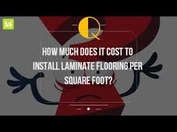 how much does it cost to install laminate flooring per square
