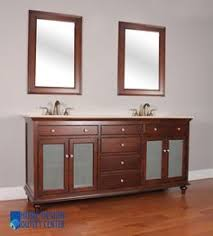 double trough sink with vanity cabinet for simple bathroom new