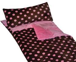 sleeping accessories girls love cricketzzz u0027s brown and pink polka dot sleeping bag a