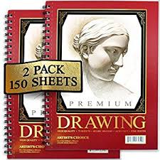 amazon com artist u0027s choice sketch pad 75 sheets pack of 2 home