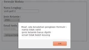 membuat web sederhana dengan javascript membuat validasi input form sederhana dengan javascript sekedar
