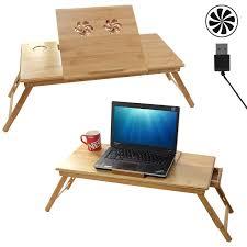 tablette pour cuisine songmics table de lit pliable en bambou pour pc ordinateur portable