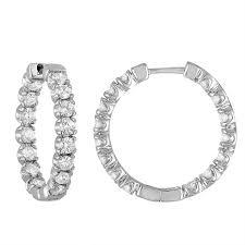 inside out diamond hoop earrings inside out diamond hoop earrings 14k white gold