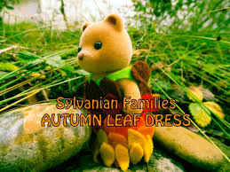 and easy sylvanian families autumn leaf dress