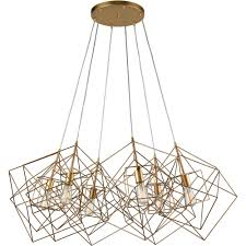 dimond home 1141 032 box pendant cluster in gold leaf