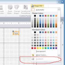 access vba back color gradient for label shape stack overflow
