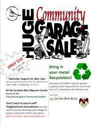 gray mockingbird community garage sale