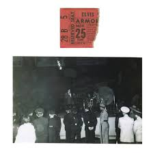ticket stub album lot detail november 25 1956 elvis concert ticket stub