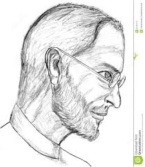 steve jobs pencil sketch editorial photography image 21481717