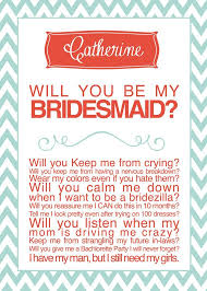 Cute Will You Be My Bridesmaid Ideas Bridesmaid Card Cute Way To Ask Your Bridesmaids Picmia