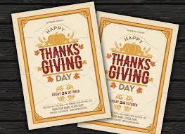 free thanksgiving invitations thanksgiving flyer invitation flyer templates creative market