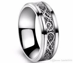 cheap titanium rings images Valentine 39 s day vintage tungsten steel white golden ring for men jpg