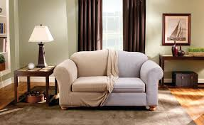 Slipcover For Sofa With Three Cushions by Sure Fit Stretch Stripe Box Cushion Loveseat Slipcover U0026 Reviews