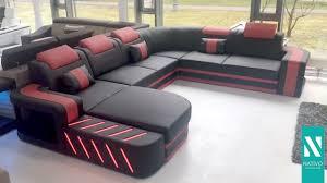 sofa schweiz nativo möbel schweiz designer sofa space mit led beleuchtung