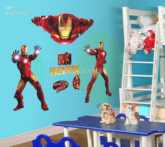 Wholesale Removable Iron Man Wall Stickers Wall Art Stickers - Cheap wall decals for kids rooms