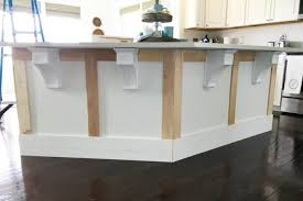 kitchen island with corbels how to add custom trim to a kitchen island just a and