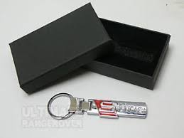 box keychain chrome sline s line gift box key chain keyring audi a1 a2 a3