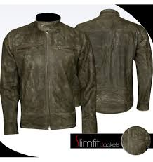 men s bike jackets distressed leather jackets