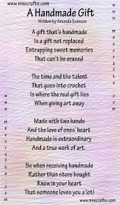 manda nicole u0027s crochet patterns a handmade gift a poem