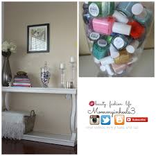 Nail Varnish Cabinet Diy Nail Polish Decor Jar And Storage Youtube