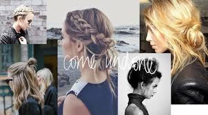 Hochsteckfrisurenen Undone Look by Get The Look Come Undone 5 Imperfekte Hairdos Zum Nachstylen