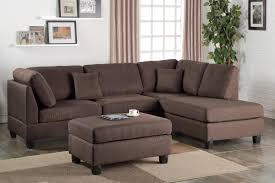 Living Room Ottoman by Brown Fabric Sectional Sofa And Ottoman Steal A Sofa Furniture