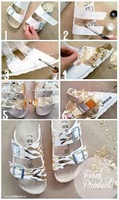 diy gold leaf sandals birkenstock u2013 my little secrets
