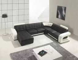 Black Leather Sectional Sofa Modern Black Leather Sectional Sofa Photo With Astonishing Elegant