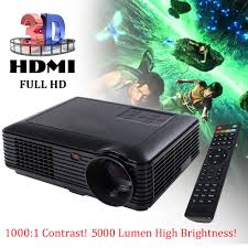 home theater projector package deals 5000 lumens hd 1080p home theater projector 3d led portable sd