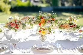 outdoor garden centerpieces romantic spring garden wedding