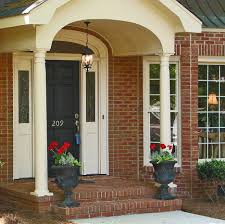 exterior amusing image of front porch decoration using small white