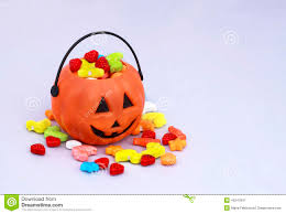 halloween basket trick or treat candy basket with sweets stock photo image 45347847
