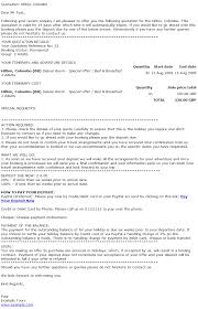 Business Letter Reservation Example Tour Operator Documentation Templates To Download