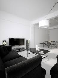 Modern Minimalist Black And White Lofts - Black and white living room decor