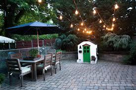 String Outdoor Patio Lights Outdoor Lighting Light Bulbs On String Outdoor Patio Cafe String